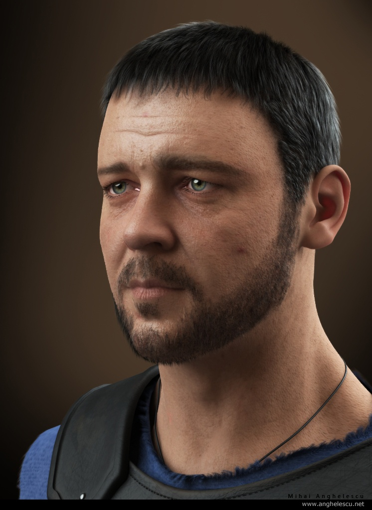 russell crowe 3d model